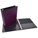 1 inch Amethyst OverlayView Binder, 8.5x11, Round Ring (Exclusive)