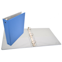 Exclusive 1.5 inch Azure Blue Binder, 8.5x11, Round Ring