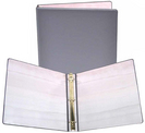 1 inch Pink and Gray Fashion Binder, 8.5x11, Round Ring