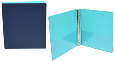 1 inch Navy and Cool Aqua Binder, 8.5x11, Round Ring