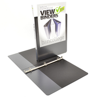 .5 inch White Polypropylene Clear Overlay Binder, 8.5x11, Angle D ring