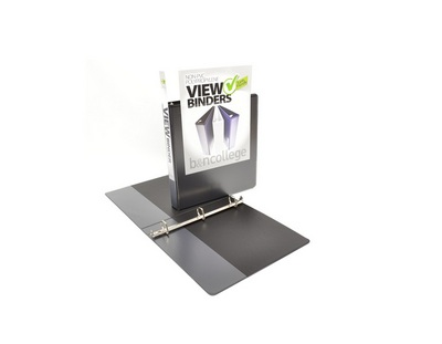 1 VIEW Binder, White Poly, Angle DRing, 11 x 8 12
