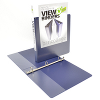 1 inch White Polypropylene Clear Overlay Binder, 8.5x11, Angle D ring