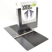 1.5 inch White Polypropylene Clear Overlay Binder, 8.5x11, Angle D ring