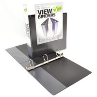 2 Navy Clear View DRing Binder