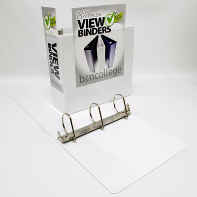 3 inch Polypropylene Clear Overlay Binder, 8.5x11, Angle D ring