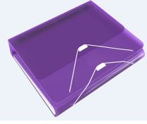 Duo 2 in 1 Organizer  1 inch Ring Binder plus Expanding File, Purple
