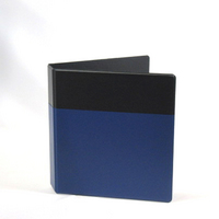 Exclusive 1.5 inch Vinyl Pocket Binder, 8.5x11, Round Ring, Black binder bith Maroon pocket