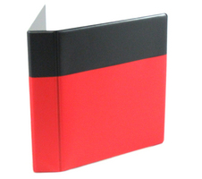 1.5 Black and Red Pocket Binder Round Ring