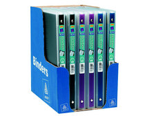 Avery FlexiView 12 Binder, 12 Round Rings, 100Sheet Capacity, Navy Blue