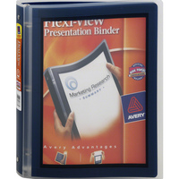 Avery FlexiView Binder with 1 Round Ring, Assorted Colors