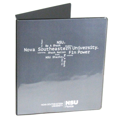 1.5 Pictorial Black Binder  11x8.5 Round Ring