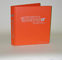 1 Inch Orange Vinyl Binder, 8.5x11, Round Ring, 1 Color Imprint