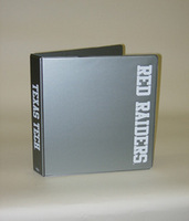 1.5 Inch Silver Vinyl Binder, 8.5x11, Round Ring, 1 Color Imprint