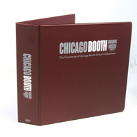 Four Point 2 inch, 2 Color Imprinted Vinyl Binder, Maroon