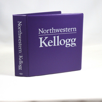 2 Inch Purple Vinyl Binder, 8.5x11, Angle D Ring, 1 Color Imprint