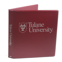 1 Inch Maroon Vinyl Binder, 8.5x11, Angle D Ring, 1 Color Imprint