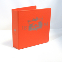 2 Inch Orange Vinyl Binder, 8.5x11, Round Ring, 1 Color Imprint