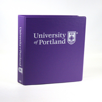 1.5 Inch Purple Vinyl Binder, 8.5x11, Round Ring, 1 Color Imprint