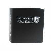 1.5 Inch Vinyl Binder, 8.5x11, Round Ring, 1 Color Imprint