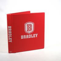 1 Inch Vinyl Binder, 8.5x11, Round Ring, 1 Color Imprint