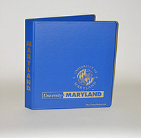 1 Inch Hawaiian Blue Vinyl Binder, 8.5x11, Round Ring, 1 Color Imprint