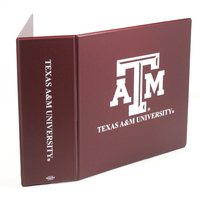 3 Inch Maroon Vinyl Binder, 8.5x11, Round Ring, 1 Color Imprint