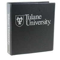 1.5 Inch Black Vinyl Binder, 8.5x11, Angle D Ring, 1 Color Imprint