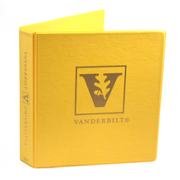 1.5 Inch Golden Yellow Vinyl Binder, 8.5x11, Round Ring, 1 Color Imprint