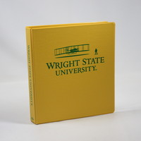 1 Inch Golden Yellow Vinyl Binder, 8.5x11, Round Ring, 1 Color Imprint