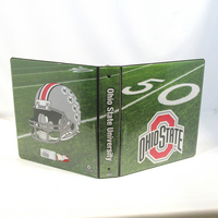1.5 Inch Sports Collection Football Field Binder, 8.5x11, Round Ring, Full Color Design