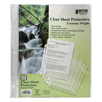 Better Office Products Poly Sheet Protectors 10 Count
