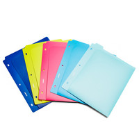 Poppin Assorted Poly Pocket Dividers, Set of 5