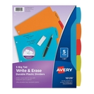 Big Tab Write & Erase Durable Plastic Divider