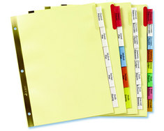 Avery Big Tab Insertable Dividers Multicolor Buff Paper 8Tab Set