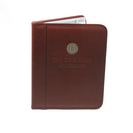 Graduate Alumni Padfolio, Brown, Medallion & or Deboss, 8.5x11