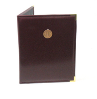 Graduate Alumni Padfolio, USA Made, Burgundy, metal corners, Medallion & or Deboss, 8.5x11