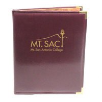 Graduate Alumni Padfolio, USA Made, Burgundy, metal corners, 1 Color Screen Print, 8.5x11