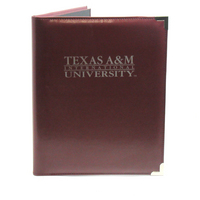 Graduate Alumni Padfolio, Burgundy, 1 Color Screen Print, 8.5x11