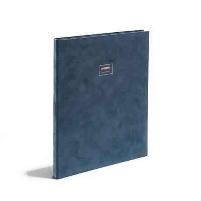 Poppin Storm Velvet Large Padfolio with Writing Pad