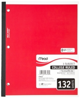 Mead Wireless 3 Subject Notebook (Incarcerated Approved)
