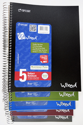 TOP FLIGHT WIRED 5 SUB NOTEBOOK