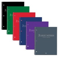Roaring Spring College Ruled 3 Subject Notebook, 11 x 9 120 Sheets, Assorted Colors