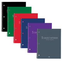 Roaring Spring College Ruled 5 Subject Notebook, 11 x 9 180 Sheets, Assorted Colors