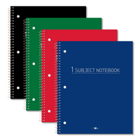 Roaring Spring Wirebound Notebook Wide Ruled Standard Colors 10.5x8 70 sheets