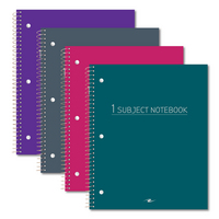 Roaring Spring Wirebound Notebook Wide Ruled Fashion Colors 10.5x8 70 sheets