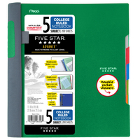 Five Star Advance Wirebound Notebook, 5 Subject, College Ruled, 11 x 8 12
