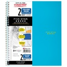 Five Star Wirebound Notebook, 2 Subject, College Ruled, 11 x 8 12, Assorted Colors