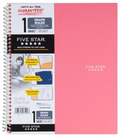 Five Star Wirebound Notebook, 1 Subject, Graph Ruled, 11 x 8 12, Assorted Colors 100 ct