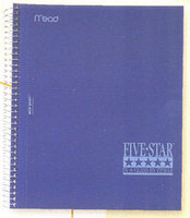 Five Star Wirebound Notebook, 5 Subject, College Ruled, 11 x 8 12
